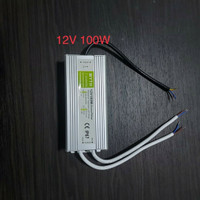 Travo Adaptor Power Suply Waterproof 12V 12 V 100W 100 Watt 100 W 8.3A