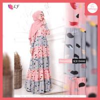 FS297 Baju Gamis Wanita Revalina Dress Muslim All Size