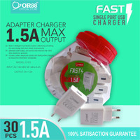 KEPALA CHARGER SINGLE PORT USB FAST CHARGING OR - 88 /PCS