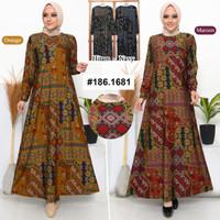 baju gamis wanita kaos katun batik/baju gamis wanita kaos murah