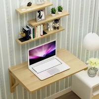Meja Dinding Lipat Laptop/ Komputer / TV Kayu Jati Bukan Partisi