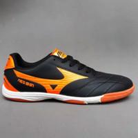 Sepatu futsal terbaru 2021 mizuno neo sin ada bonus kaos kaki - hitam orange, 39