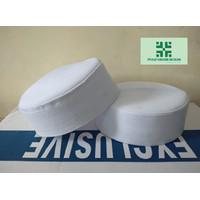 Promo Peci Kopiah Batok Peci Habib bahar bin Smith - Putih tinggi 7cm