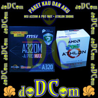 Paket AMD Athlon 3000G + MSI A320M A PRO MAX