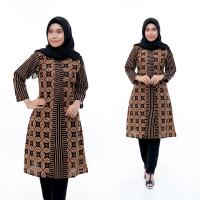 Atasan Baju Wanita Modern Tunik Batik Promo Terlaris Dress Batik Kerja
