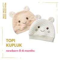 Topi Kupluk Anak Bayi Newborn 0-6 bulan Cotton, Nyaman dan Lucu