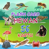 FLASH CARDS KARTU EDUKASI ANAK HEWAN BINATANG 56 BELAJAR PINTAR