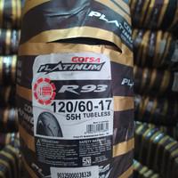 BAN TUBELESS CORSA PLATINUM R93 120/60-17 free pentil tubeless