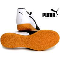 SEPATU FUTSAL PUMA Monarch IT Puma White-Puma Black-Gum 105675 02