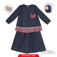 TO25 Tunik Anak Perempuan Katun Set Rok Polos Kantong Pita FREE HIJAB