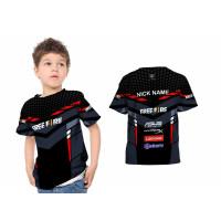 T-Shirt Anak Esports Gamers Jersey FREE FIRE 3D FullPrint