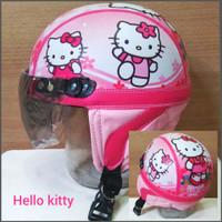HELM RETRO ANAK HELLO KITTY PRINTING 2 - 5 THN