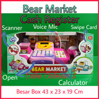 Mainan Kasir Kasiran Besar Cash Register Bear Market Swalayan