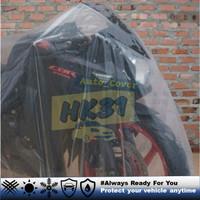 Cover Motor spesialis Moge CBR , R25 , ninja 250 , ninja rr, DLL - XXL, Bening