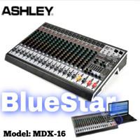 Mixer Ashley MDX 16 Original 16 Channel - Effect Reverb 24 bit - 256 D