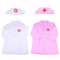 Baju dokter anak kostum mainan profesi doktor jas jaket topi doctor