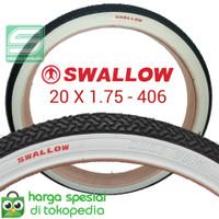 Grosir Ban Luar Swallow List Putih 20 x 1.75 sepeda lipat, minion