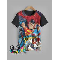 Baju Kaos Anak Laki-Laki | Kaos Anak Grosir Murah | 9-12Tahun Superman - 11-12 tahun
