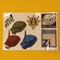 Sticker Gundam Zeonic FanArt Set