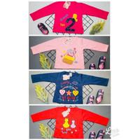 baju kaos atasan anak perempuan bordir usia 1-9 tahun tangan panjang