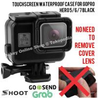 Touchscreen Waterproof Case GoPro Hero 5/6/7 Black casing anti air