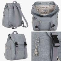 Tas Ransel Tas Backpack Kipling Aicil Cool Denim Original