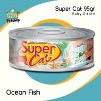 Makanan Kucing Supercat Can Baby Kitten Kemasan 95Gram - Tuna Chicken