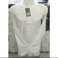 Baju Koko Putih Lengan Panjang, Bordir design 21 by Syahdika.