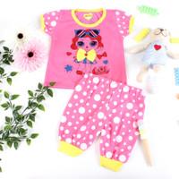 Setelan Anak Perempuan 2-12 bln Gambar LOL / Baju Anak Cewek Murah