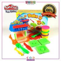 Mainan Edukasi Anak Playdough Fundough Bake It Lilin Cetakan TM253