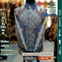 Baju Kemeja Batik pria motif Tulis Seperti ATBM SUTRA Pesta BR19