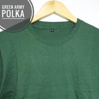 KAOS POLOS POLKA GALAXY LENGAN PENDEK SIZE S M L XL - hijau army, bintik navstar