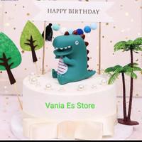 Topper Kue / Hiasan Kue Ultah Dinosaurus / Dekorasi Pesta Ulang Tahun
