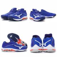 sepatu volly mizuno wave lighting z6 low blue original