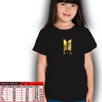 bts/Kaos bts/Baju Anak Perempuan/Atasan Anak/Tshirt/Kaos Murah/Anak Ke - Hitam, XS