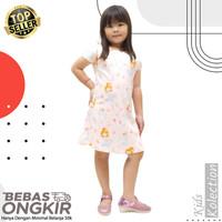 Dress anak princess / baju anak perempuan/cewek scuba umur 2 - dewasa