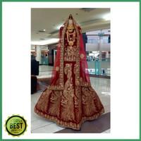 lehengga merak bludru Baju india / stelan sarung pengantin blouse