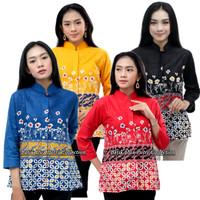 Batik Wanita Atasan Blouse Pleangi Lengan Panjang