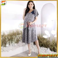 Baju Hamil Kantor Dress Hamil Kerja Bahan Katun Premium Allsize