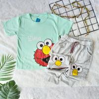 Setelan Anak Laki Elmo Usia 1-5Tahun / Set Baju Celana Anak Cowo