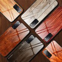 WoodGrain Glass Case Samsung Galaxy S20 FE S20FE Softcase Casing HP