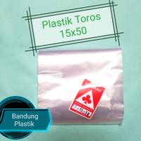 Plastik Toros panjang 15x40 / 15x50 / 15x55 PP kerupuk / terompet