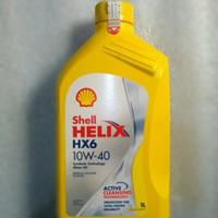 oli mesin Shell helix HX6 asli original barcode tembus