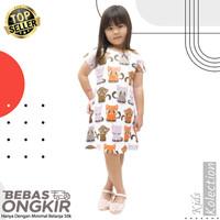 Dress anak karakter Kucing Belo / baju anak perempuan/cewek umur 2-dws