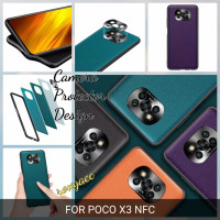 leather case poco x3 nfc softcase bahan kulit soft case silicon cover