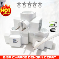 STEKER T ARDE + PORT USB CHARGER MIKOTEK SNI Mt7899U / Stopkontak USB