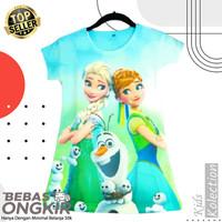 Dress anak Cute bahan scuba / baju anak perempuan import umur 2-dewasa