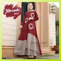 Baju Gamis Miranda Maxi Wanita Muslim Murah Polos Jumbo Terbaru Pesta