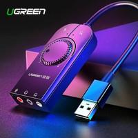 UGREEN sound card external usb audio card adapter jack 3.5mm mikrofon