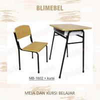 Meja + Kursi Belajar / Bangku Kuliah / Bangku Universitas / Bangku